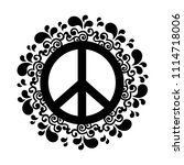 isolated abstract peace symbol | Shutterstock .eps vector #1114718006