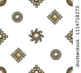 seamless pattern from textile... | Shutterstock .eps vector #1114718273