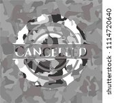 cancelled grey camouflage emblem   Shutterstock .eps vector #1114720640