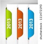 vector 2013 labels   stickers... | Shutterstock .eps vector #111472193