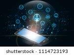 modern global network... | Shutterstock .eps vector #1114723193