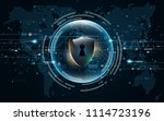3d protected guard shield... | Shutterstock .eps vector #1114723196