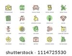 set of vector car service and...   Shutterstock .eps vector #1114725530