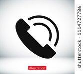 phone vector icon  stock vector ...