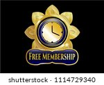 shiny badge with clock  time... | Shutterstock .eps vector #1114729340