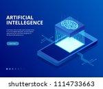 isometric artificial...   Shutterstock .eps vector #1114733663