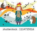 vector illustration with a... | Shutterstock .eps vector #1114735016