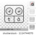 hygrometer thin line icon.... | Shutterstock .eps vector #1114744070