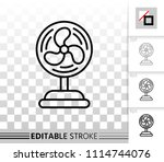 blower thin line icon. outline... | Shutterstock .eps vector #1114744076