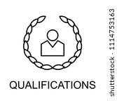 qualifications line icon.... | Shutterstock .eps vector #1114753163