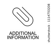 additional information line... | Shutterstock .eps vector #1114753208