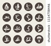 water sports icon set | Shutterstock .eps vector #1114758446
