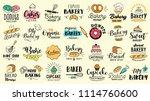 bakery logotypes set. bakery... | Shutterstock .eps vector #1114760600
