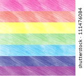 child's rainbow crayon drawing. ...   Shutterstock . vector #111476084