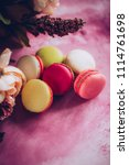 cake macaroons on pink... | Shutterstock . vector #1114761698