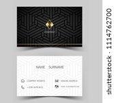 modern business card design.... | Shutterstock .eps vector #1114762700