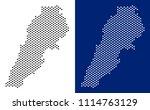 dot lebanon map. vector... | Shutterstock .eps vector #1114763129