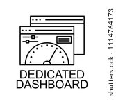 dedicated dashboard icon.... | Shutterstock .eps vector #1114764173