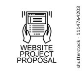 website project proposal icon.... | Shutterstock .eps vector #1114764203