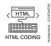 html coding icon. element of... | Shutterstock .eps vector #1114764236