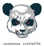 angry panda. vector illustration | Shutterstock .eps vector #1114765790