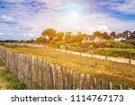 beach of landrezac  sarzeau ... | Shutterstock . vector #1114767173