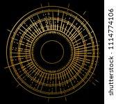 outline drawing of retro sun... | Shutterstock .eps vector #1114774106