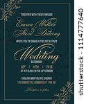 wedding invitation letter... | Shutterstock .eps vector #1114777640