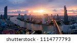 aerial view of bangkok modern... | Shutterstock . vector #1114777793