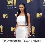 kim kardashian at the 2018 mtv... | Shutterstock . vector #1114778264