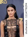 camila mendes at the 2018 mtv... | Shutterstock . vector #1114778294