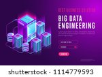colorful isometric design of... | Shutterstock .eps vector #1114779593