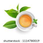 black tea leaves manu and... | Shutterstock .eps vector #1114780019