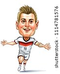 toni kroos is a german... | Shutterstock .eps vector #1114781576