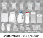 big set of polypropylene... | Shutterstock .eps vector #1114783004