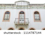exterior white wall of a... | Shutterstock . vector #1114787144