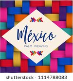 traditional colorful mexican... | Shutterstock .eps vector #1114788083