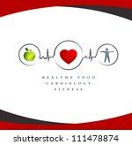 wellness symbol. healthy food... | Shutterstock . vector #111478874