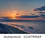 beautiful scenery of the sunset ... | Shutterstock . vector #1114790069