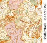 tracery seamless pattern.... | Shutterstock .eps vector #1114793153