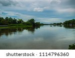blue sky and white clouds of... | Shutterstock . vector #1114796360