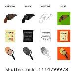 the detective's flashlight... | Shutterstock .eps vector #1114799978