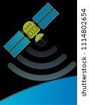orbital satellite. vector... | Shutterstock .eps vector #1114802654