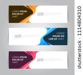 vector abstract design banner... | Shutterstock .eps vector #1114804310