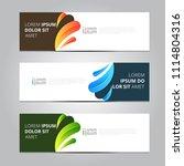 vector abstract design banner... | Shutterstock .eps vector #1114804316