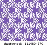 seamless pattern with symmetric ... | Shutterstock .eps vector #1114804370