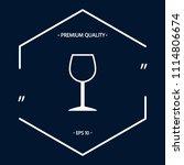 wineglass symbol icon | Shutterstock .eps vector #1114806674