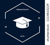 master cap for graduates ... | Shutterstock .eps vector #1114810229