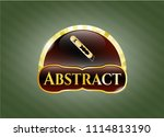 gold shiny emblem with cutter... | Shutterstock .eps vector #1114813190