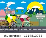 cycling poster design template...   Shutterstock .eps vector #1114813796